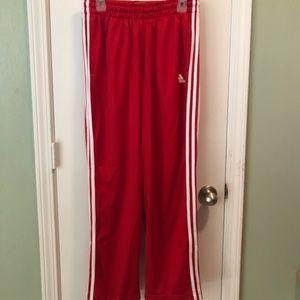 Men's Adidas Red Pants medium